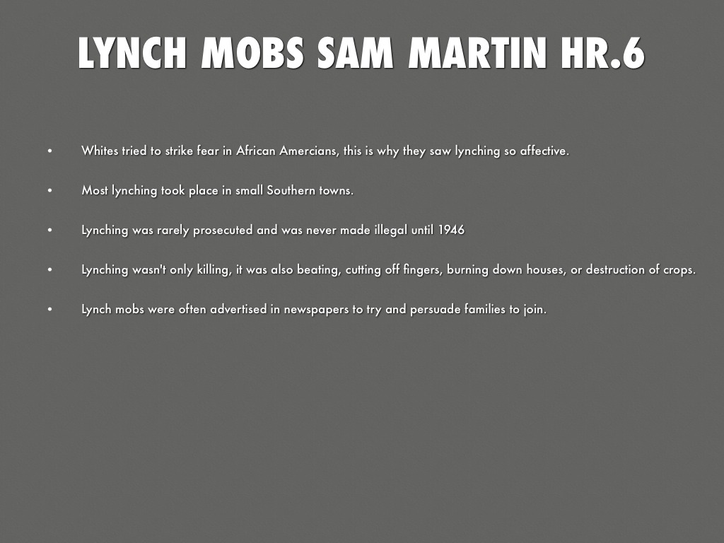 presentation of lynch mob to kill Lynch definition is - to put to death (as by hanging) by mob action without legal approval or permission how to use lynch in a sentence to put to death (as by hanging) by mob action without legal approval or permission to kill (someone) illegally as punishment for a crime.