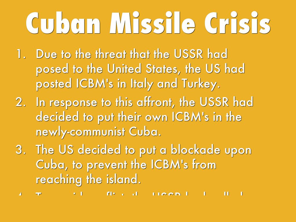 cuban missile crisis long term effects Development & impact of the cold war: the cuban missile crisis comes to an end when soviet leader nikita khrushchev the effects of the cuban missile crisis.