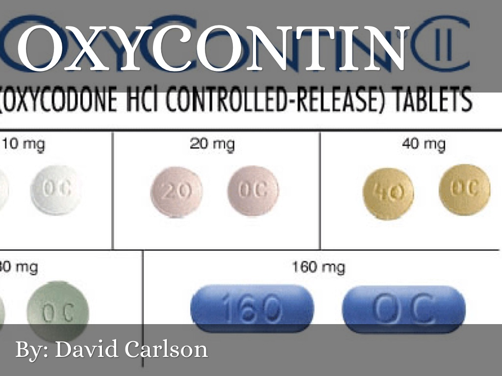 Oxycontin mg levels