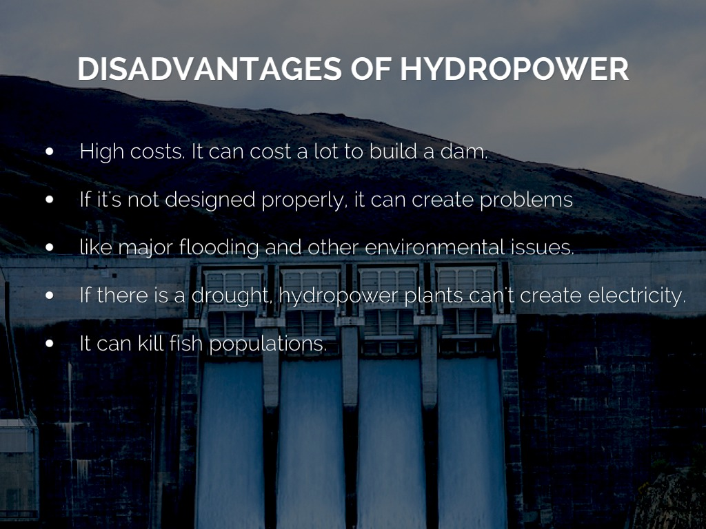 advantages of hydropower What is hydropower energy consumption makes up a big part of our daily lives we use energy for numerous functions including heating, traveling, working, and even flirting.