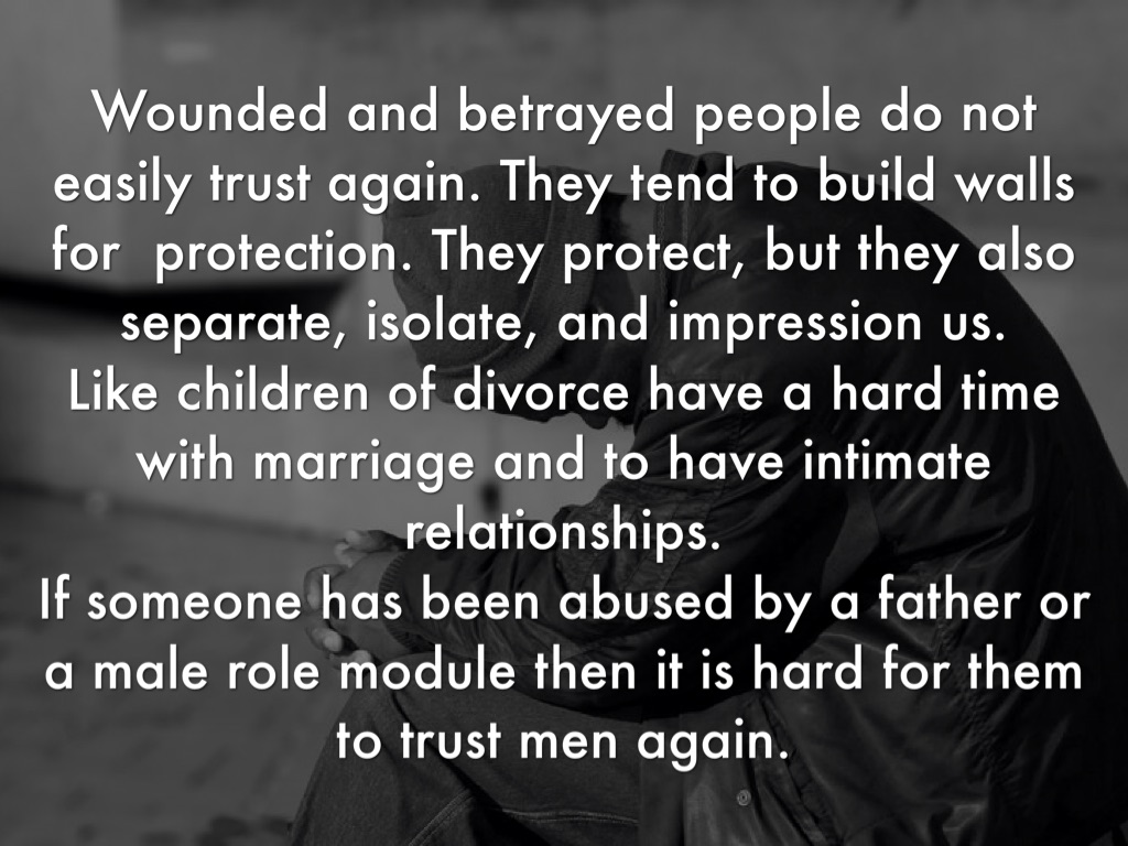 Building trust in a marriage again
