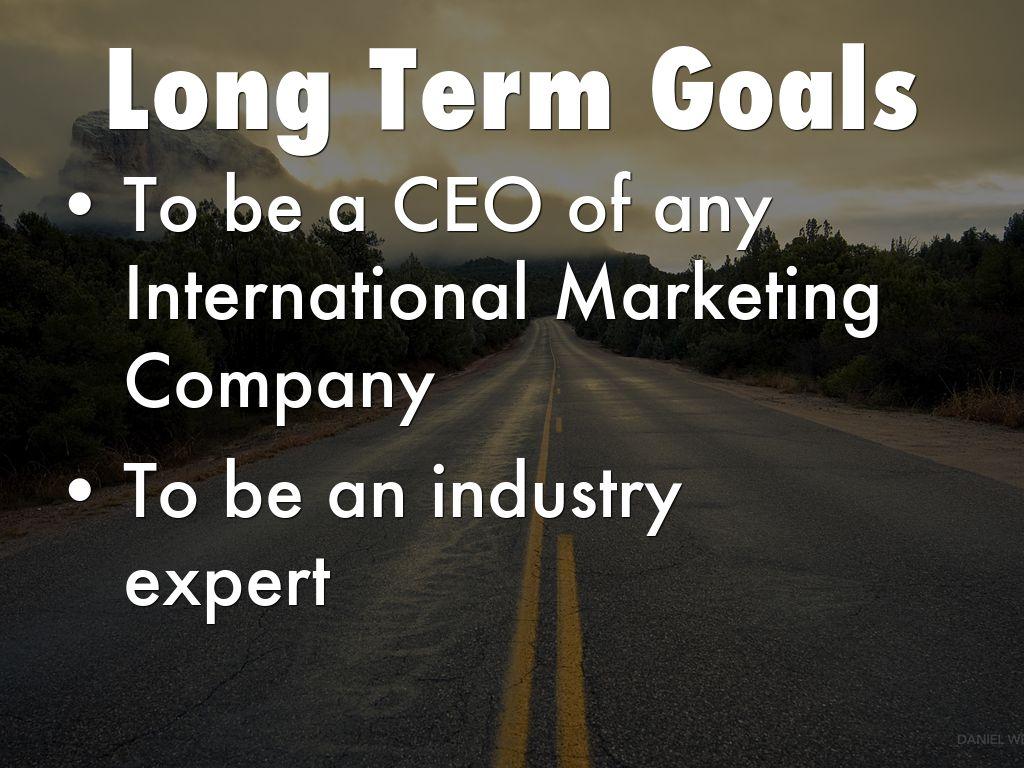 long term s goals