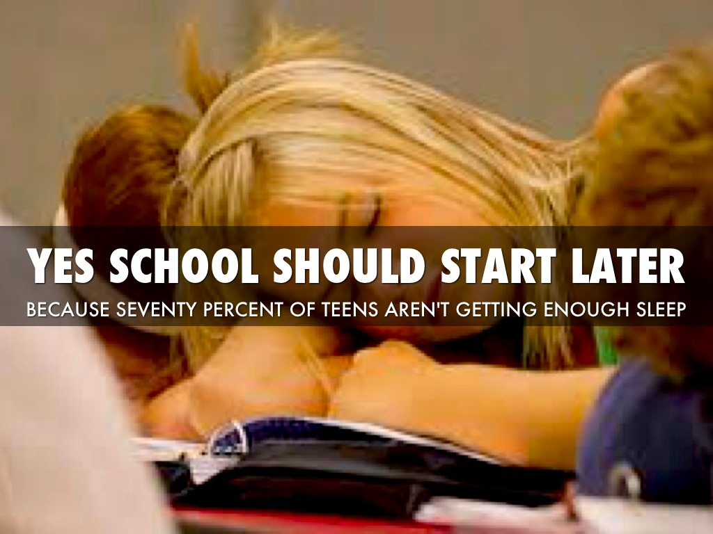 should school start at a later time essay The science-backed reason schools should  surrounding later start times, but school systems  science-backed reason schools should start.