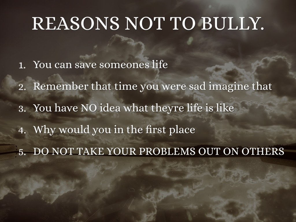 bully Reasons not to