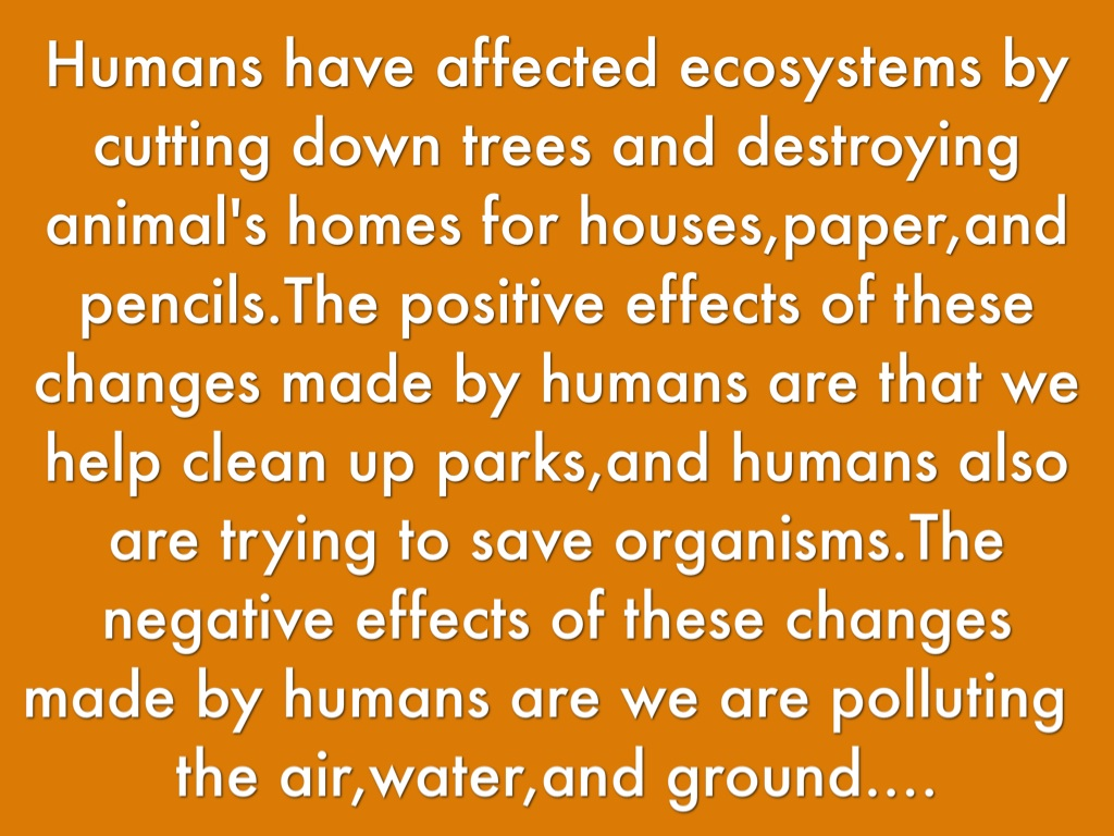 negative effects of cutting down trees