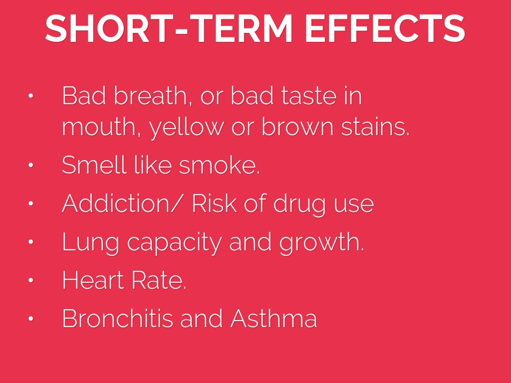 Long Term Effects Of Smoking >> What Are The Short And Long Term Effects Of Smoking