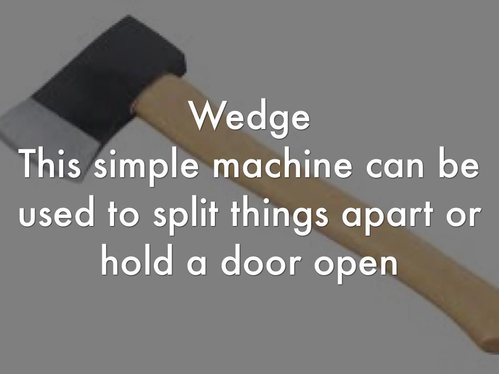 wedge definition simple machine