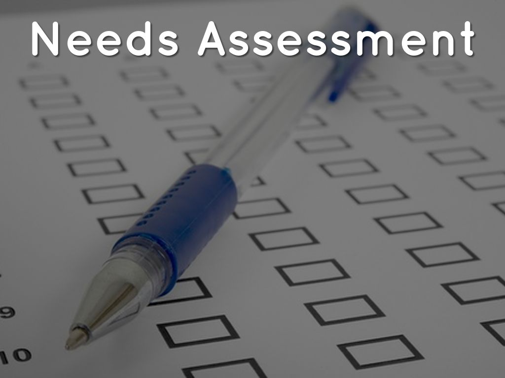 need assessment Prairiecare offers free needs assessments to anybody seeking psychiatric services a needs assessment is a face-to-face interview with a trained counselor to help determine which level of care is most appropriate for that person.