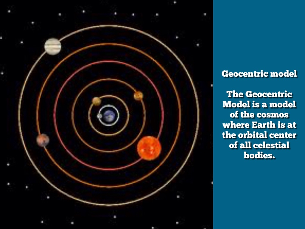 geocentric All the same, not every greek believed that the earth was in the middle aristarchus of samos, according to nasa, was the first known person to say that the sun was in the center of the universe.