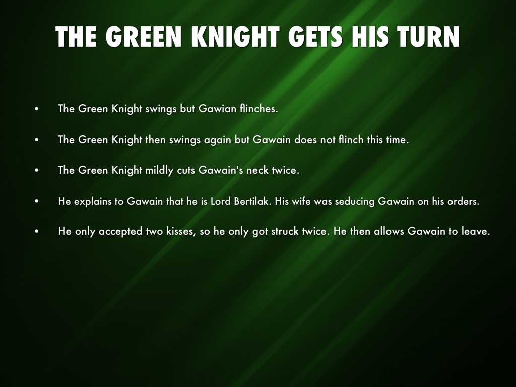 sir gawain the green knight parallel While the character of the green knight is usually not viewed as a representation of christ in sir gawain and the green knight, critics do acknowledge a parallel lawrence besserman, a specialist in medieval literature, explains that the green knight is not a figurative representative of christ.