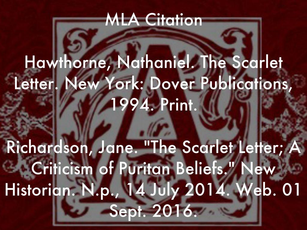 mla letter citation