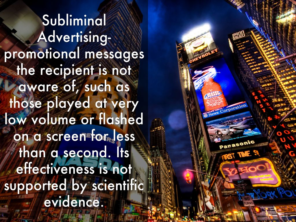 subliminal advertising a fair marketing to american consumers Ask the ftc for a copy of advertising and marketing on to implement four fair information practices: giving consumers notice of a subliminal advertising.