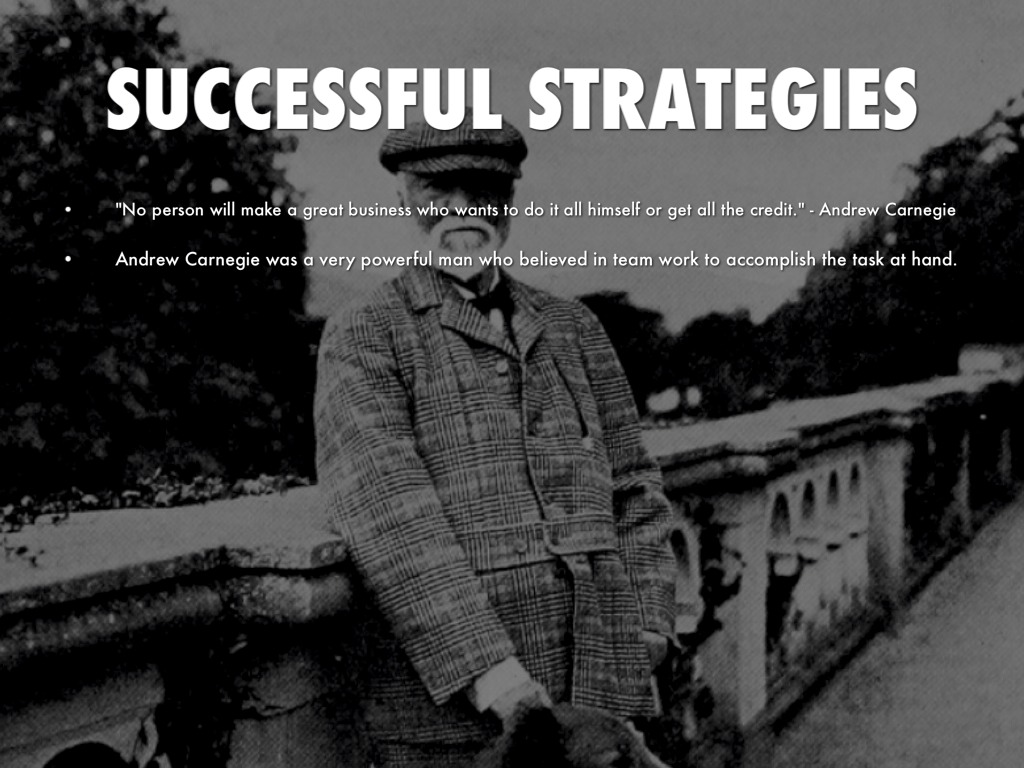 andrew carnegie was a very successful The autobiography of andrew carnegie has 792 ratings  carnegie is actually a very good  claimed that to be successful you need to get yourself in front.