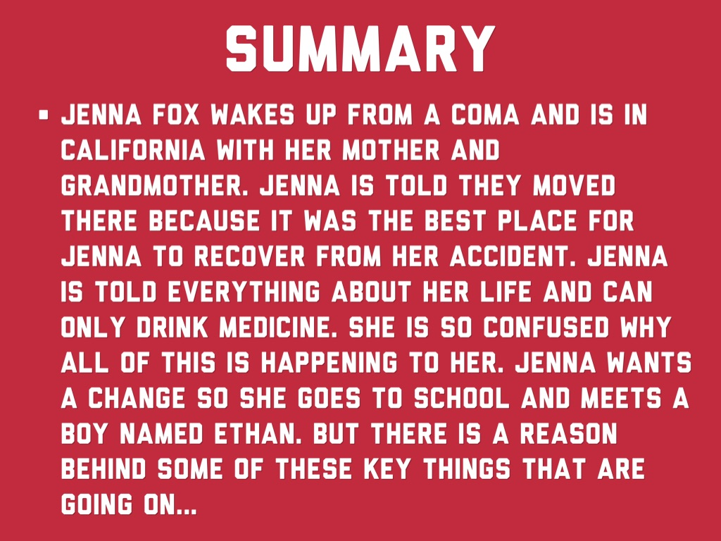 The Adoration of Jenna Fox Section 1 Summary & Analysis
