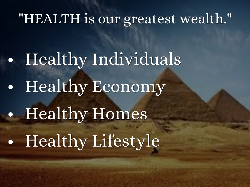 health is a greatest wealth