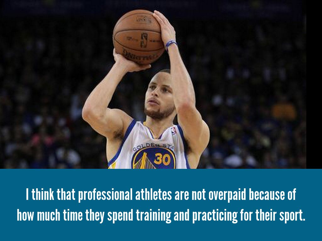 pro athletes should not be overpaid for their work