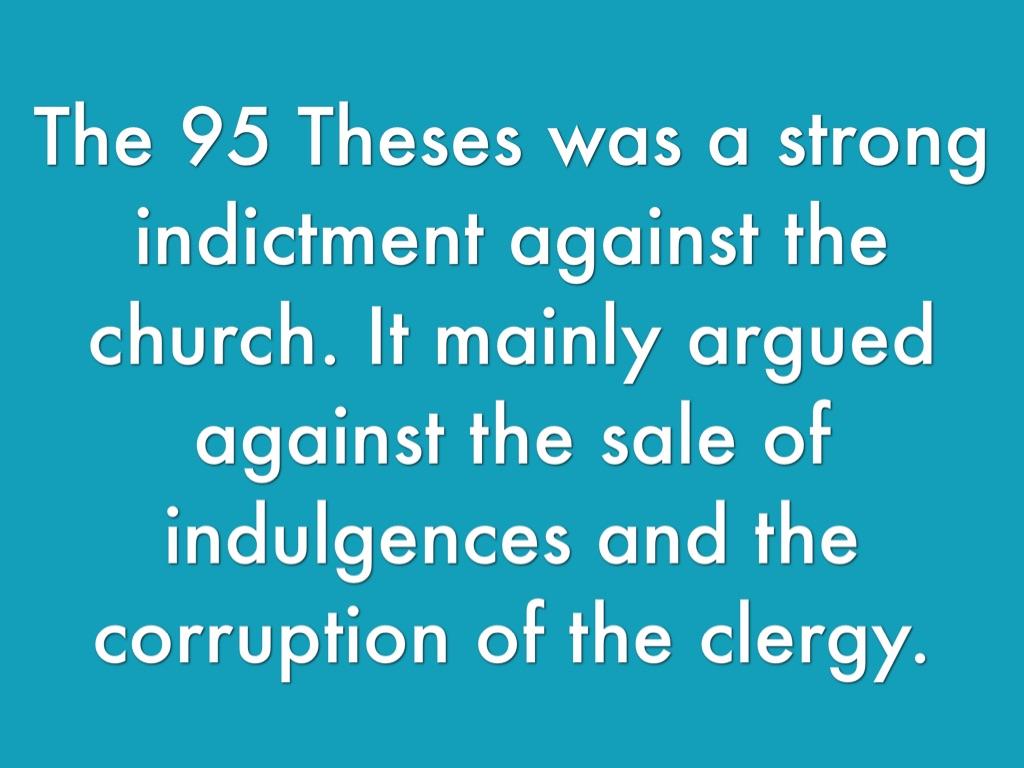 95 thesis against dispensationalism
