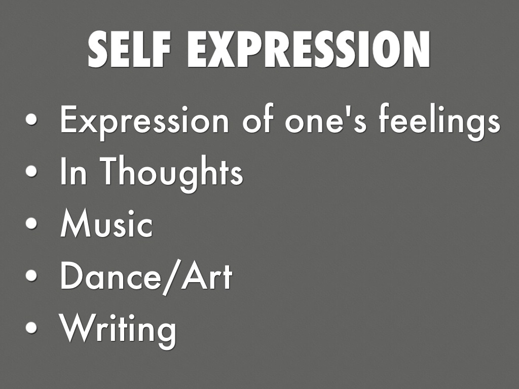 how to use music for self expression Music develops children's social and emotional skills appropriate self-expression springs from a sense of self, and music.
