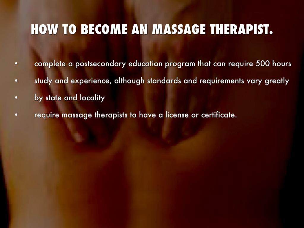 learning how to become a massage therapist essay