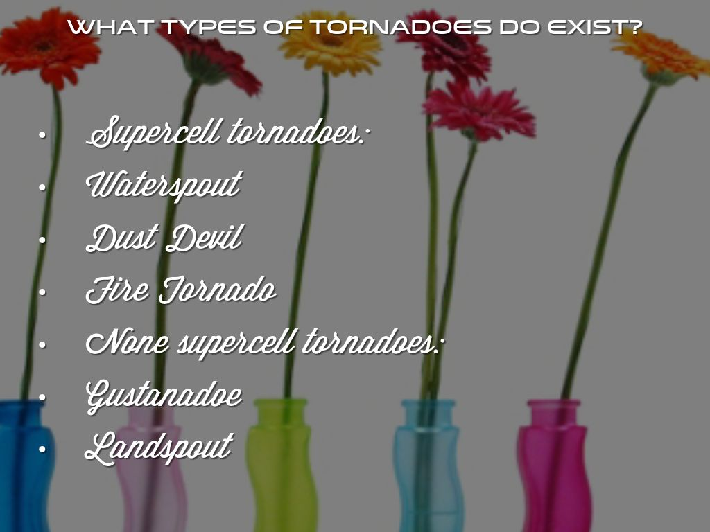 types of tornados