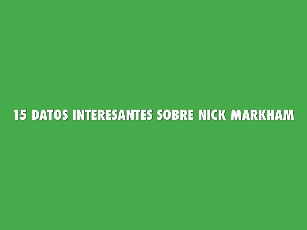 Nick Markham Project