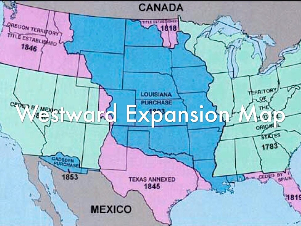 Westward Expansion By Karisa Smith - Us-western-expansion-map