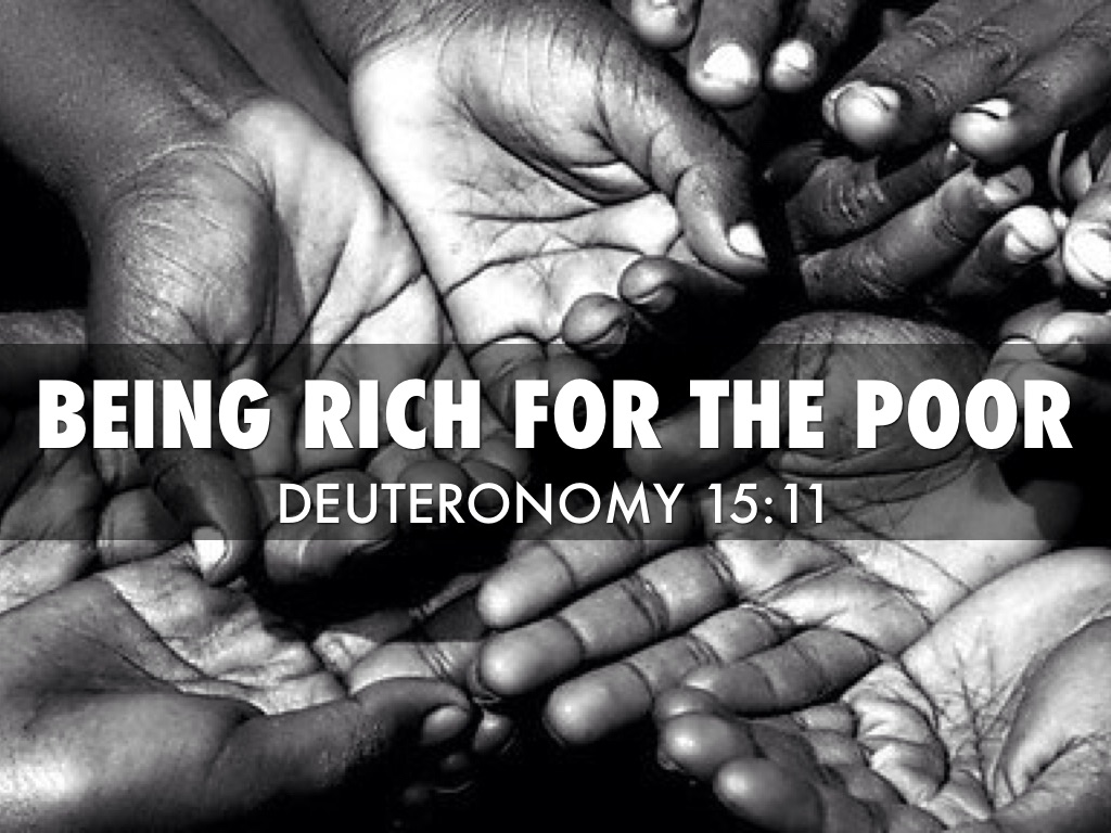 Being Rich For The Poor