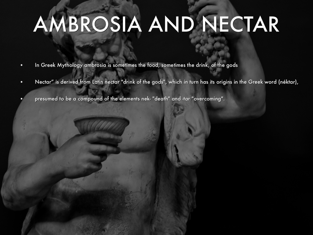 Ambrosia And Nectar Greek Mythology