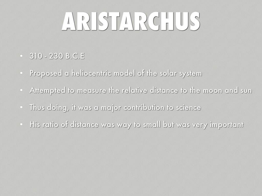 What was Aristarchus contributions to astronomy