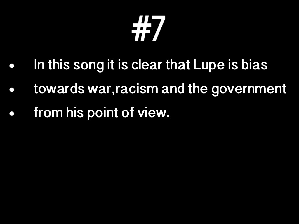 an analysis of lupes song Sure, there have been smudges on his resume, but isn't there something irreplaceable about lupe that makes him an all-time great.