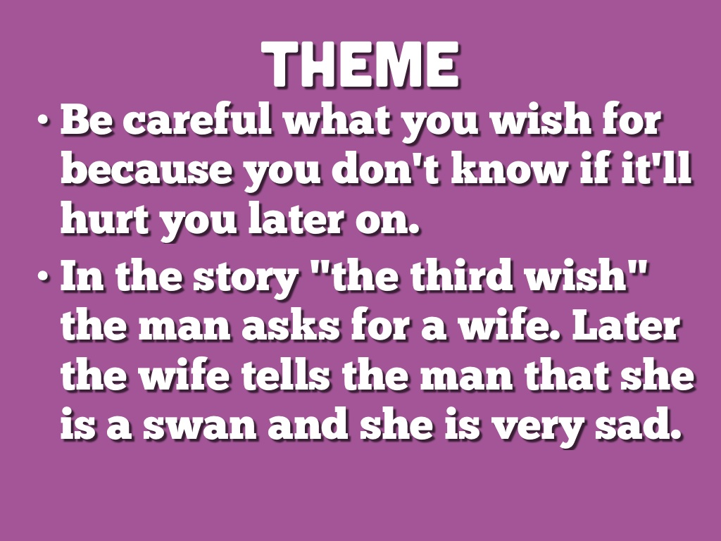 the wifes story theme