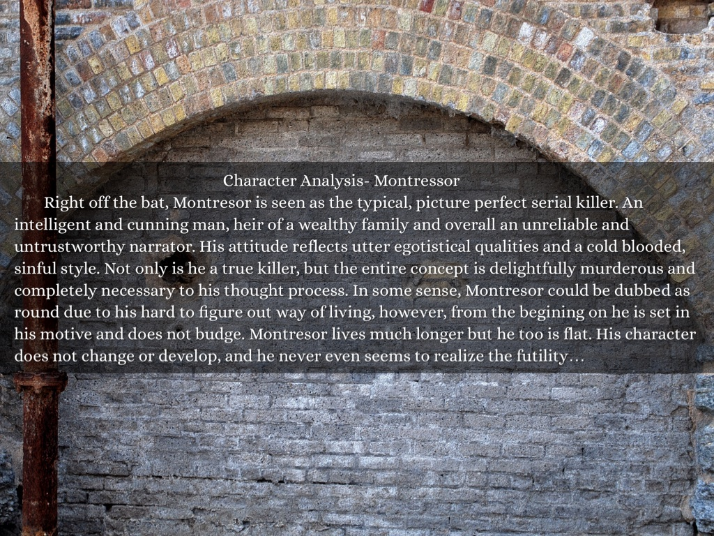 character traits for montresor
