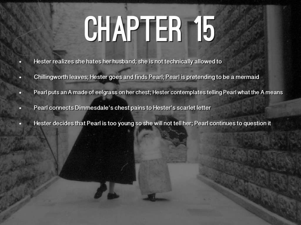 Chapter 17 The Scarlet Letter, Need help with two questions.?