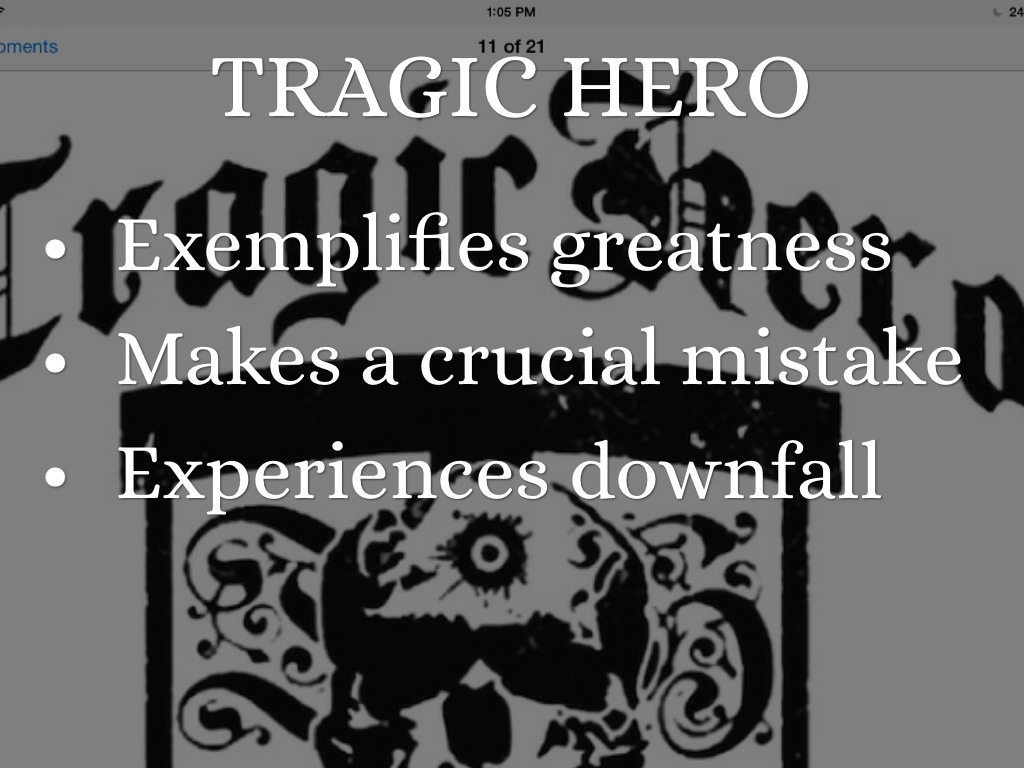 the feature of the tragic hero as exemplified in sophocles oedipus the king Tragic flaw, tragic error, and divine described as best by aristotle and exemplified by oedipus rex the king, is an athenian tragedy by sophocles that was.