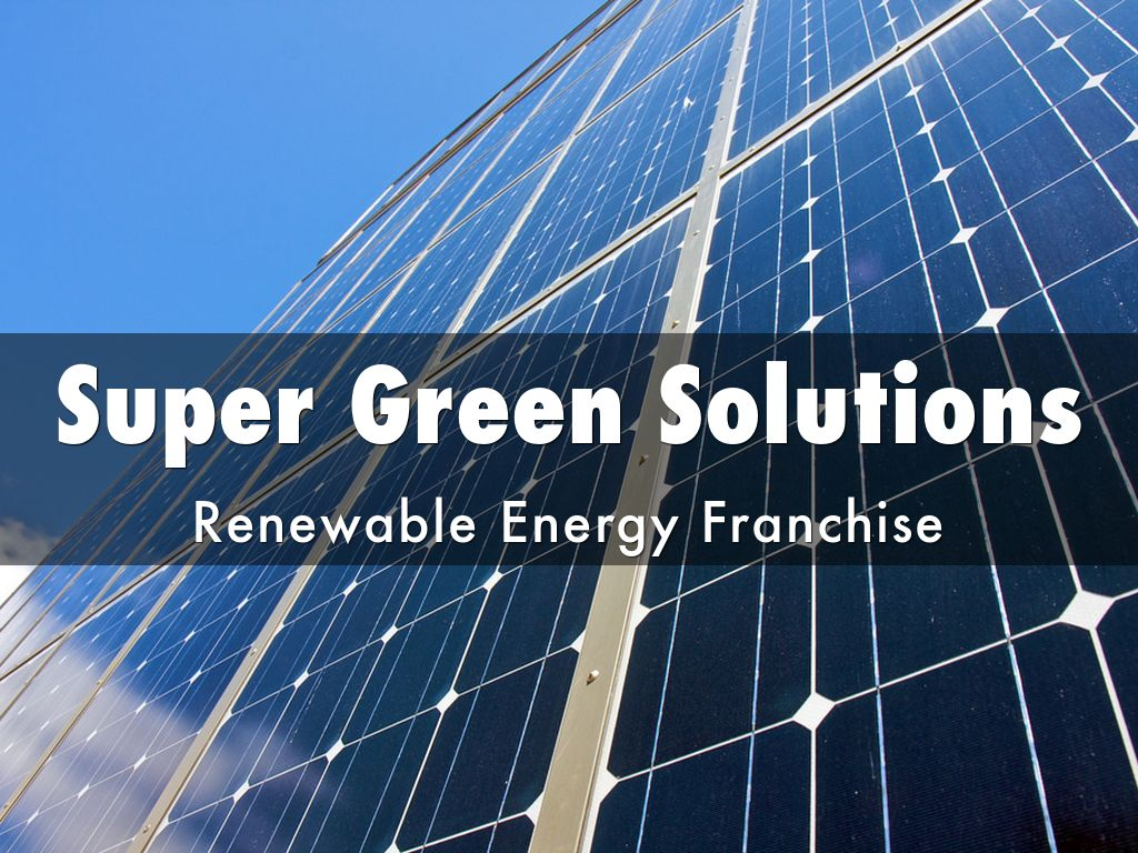Why Should I Buy Green Energy Franchise