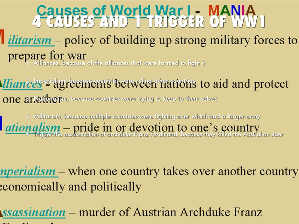 causes of great war essay