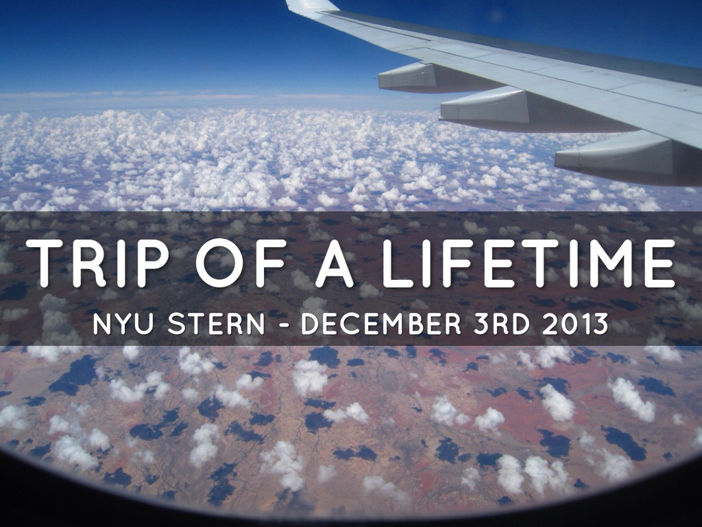 Trip of a Lifetime (STERN)