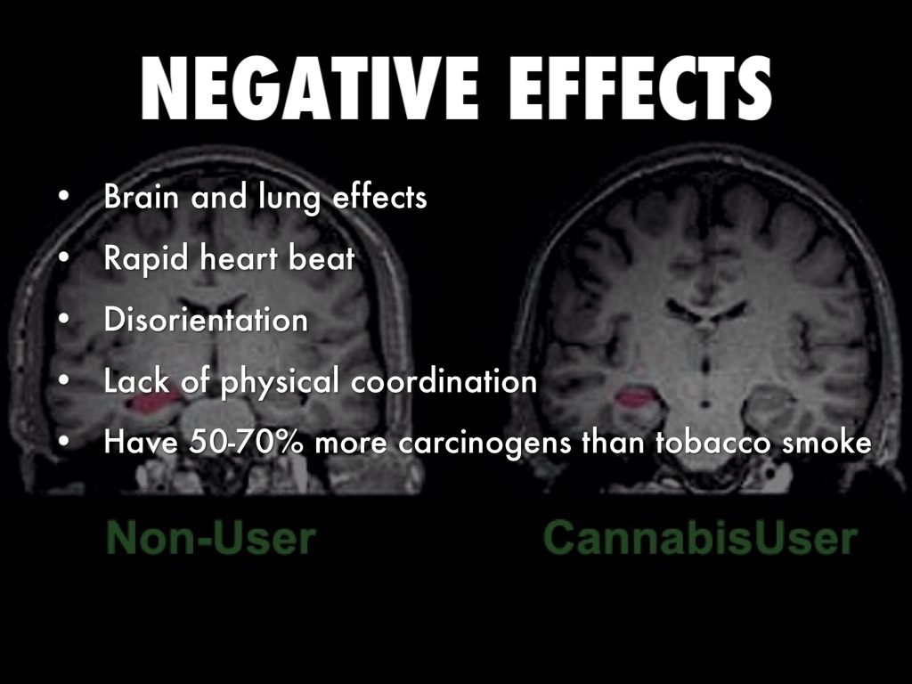 the negative effects of the tobacco smoke Side effects of smoking marijuana negative side effects of marijuana can impact your body as because of the high levels of carbon monoxide in the smoke.