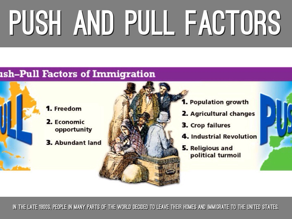 push and pull factors for immigration