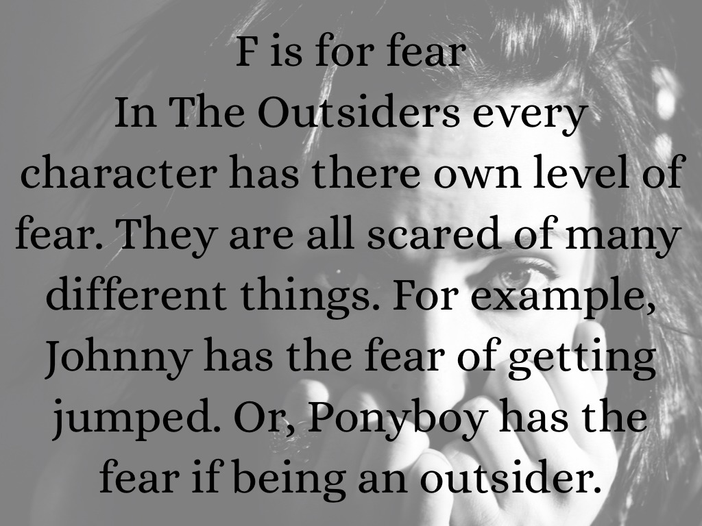 what does ponyboy fear