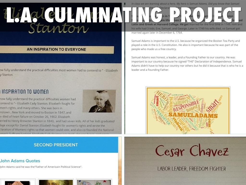 culmanating project