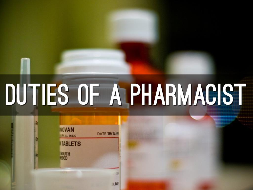 Pharmacy by Jenna Kimler – Pharmacist Duties