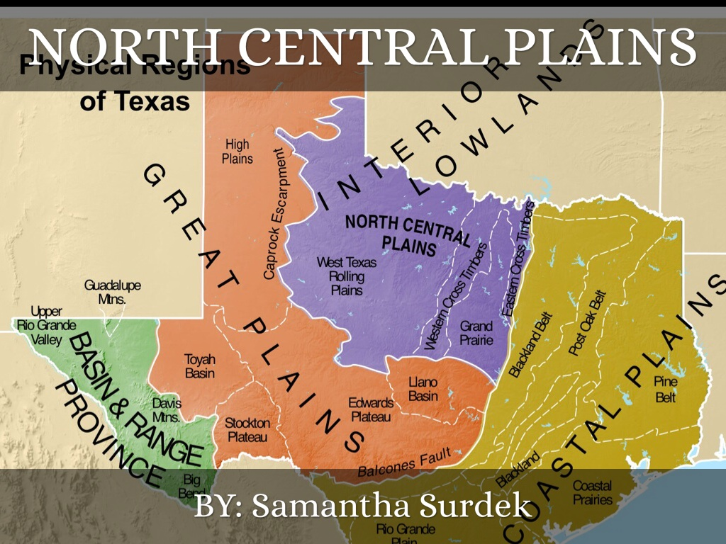 Copy Of North Central Plains By Samantha Surdek