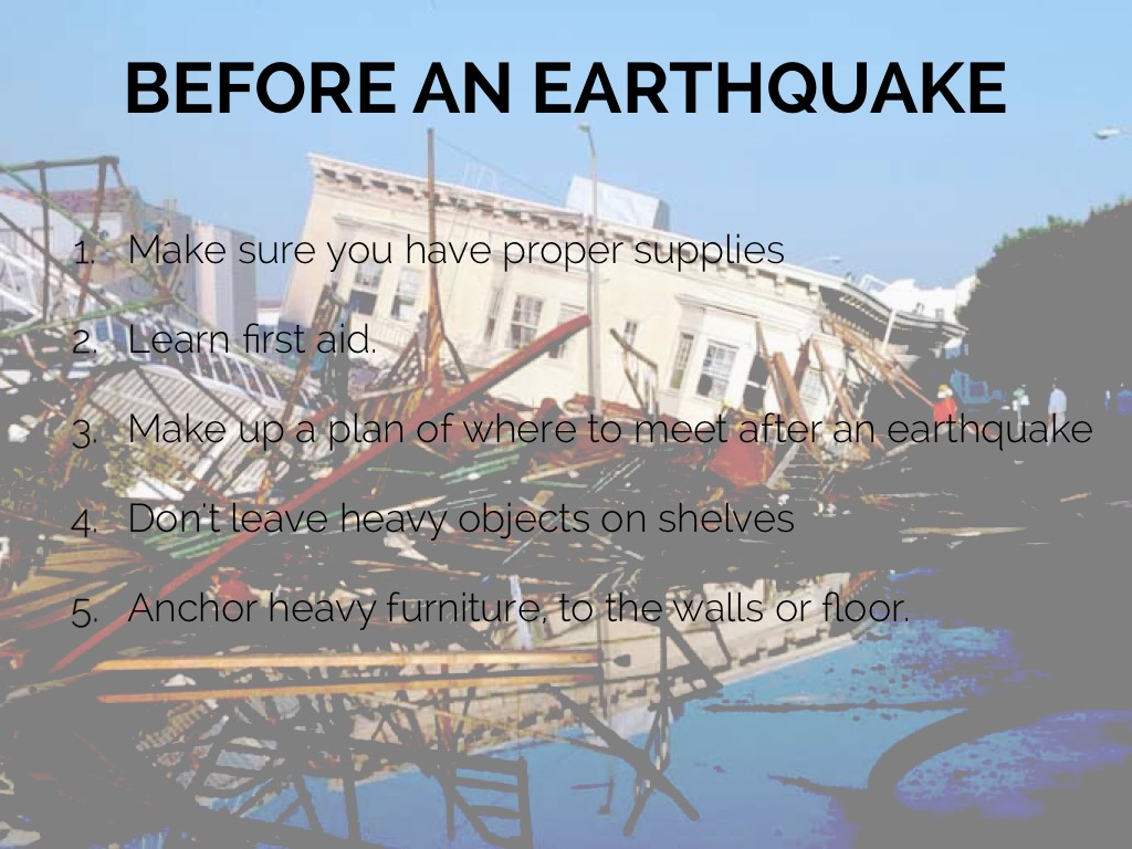 Earthquakes safety by tanner tabin for Where do you go in an earthquake