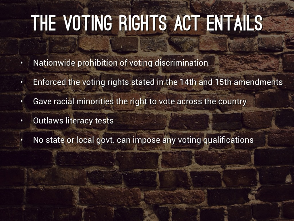 Voting Rights Act Of 1965 By Sarah Liell