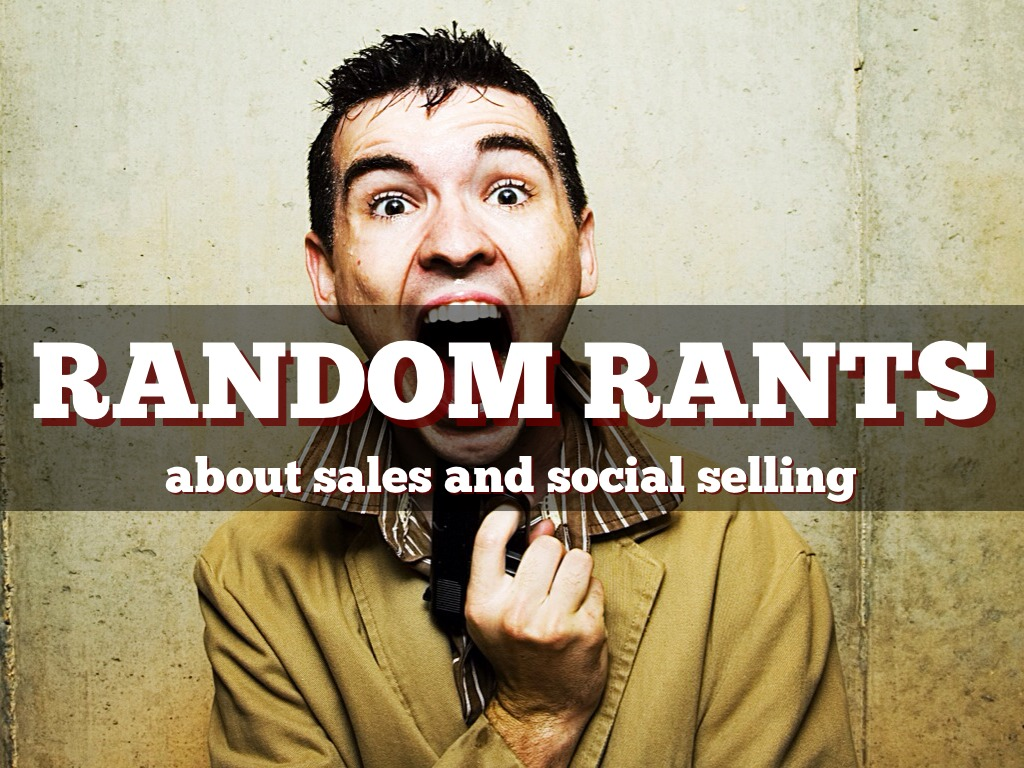 Random Rants about Sales