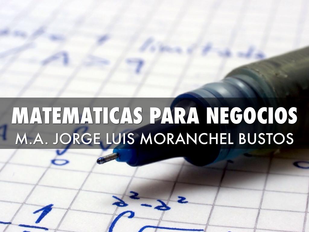 Matemáticas Para Negocios