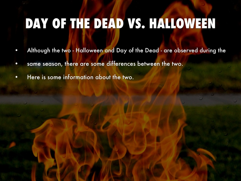 day of the dead vs halloween by ben yates