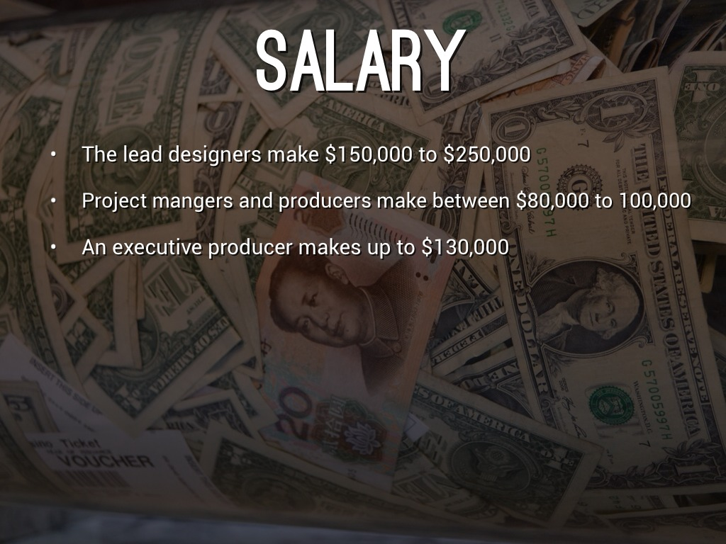 Video Game Design By Kole Phankhaysy - Salary of a video game designer