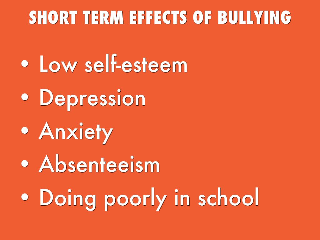 Long-Term Effects of Teen Bullying
